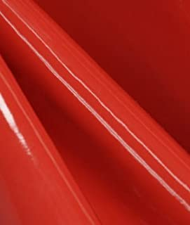 Red Patent Leather Vinyl Fabric - by the Yard