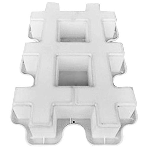 Varadyle Maker - Moldes reutilizables para hacer caminos de hormigón, jardín, bricolaje, pavimento, piedra, cemento, ladrillo