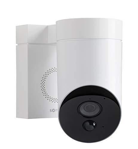 Somfy 2401560 - Smart Home Außenkamera (Überwachungskamera, Full HD-Kamera mit Nachsicht, Integrierte Sirene mit 110 dB, Bewegungserkennung) weiß