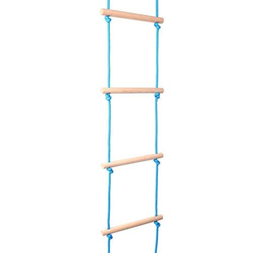 Zhivafip Escalera de Escalada para niños Escalera de Cuerda para Escalar Portátil, Duradera, Liviana, antidesgaste para literas, Casas en los árboles, reparación de techos, etc.