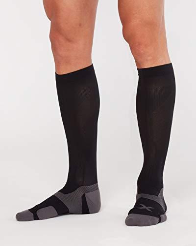 2XU Unisex's Vectr Cushion Full Length Socks Compression, Black/Titanium, Small