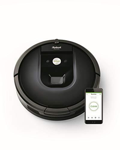 iRobot Roomba 981 Saugroboter mit 3-stufigem Reinigungssystem, Raumkartierung, Teppich-Turbomodus, zwei Multibodenbürsten, WLAN Staubsauger Roboter für Hartböden, Teppiche und Tierhaare, App-Steuerung