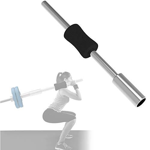 Asolym Olympische Langhantel Greifer Schulterpresse aus Rostfreiem Stahl mit Rutschfestem Schaumstoffgriff, ideal für den Einfachen Einsatz in kleinen Räumen, Schulter und Rückenübungen