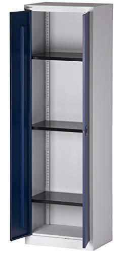 BISLEY Aktenschrank abschließbar in grau blau Metallschrank Stahlschrank Werkzeugschrank...