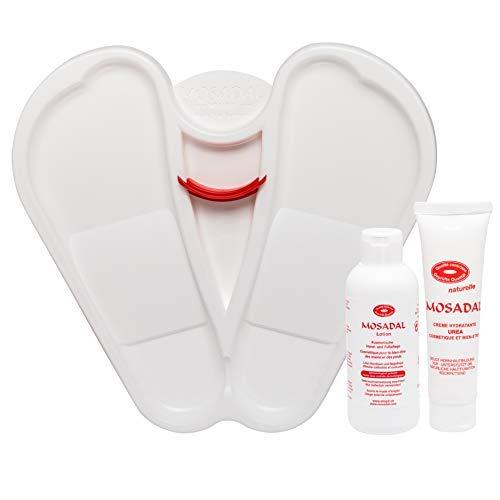 Mosadal® Fußpflegeset 3in1 - Professionelle und nachhaltige Hornhaut Entfernung! Fußwanne + Lotion 250ml + Urea Creme 100ml