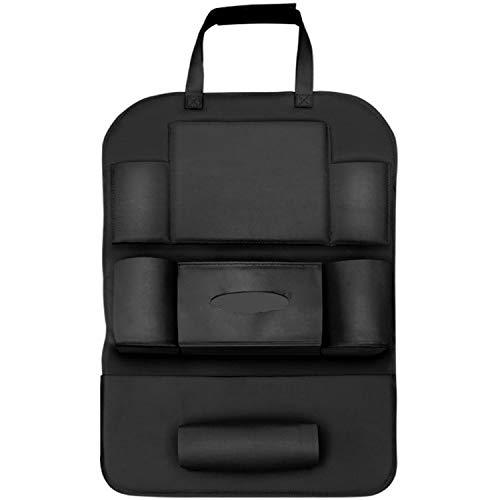 ReedG Organizadores de automóviles Universal Colgante Asiento Atrás Protector Patada Mat Travel Storage Bags Organizer Se Adapta a los Coches (Color : Black, Size : One Size)