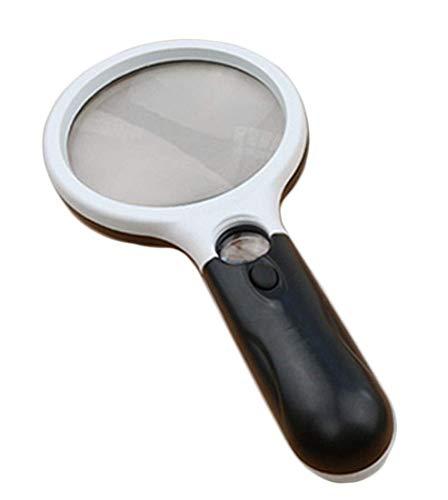 Licht 3 x 45 x vergrootglas met verlichting, vergrootglas voor het lezen van gevorderde ouderen, makelaar, sieraden, inspectie wzmdd 190 * 83 * 28mm blue
