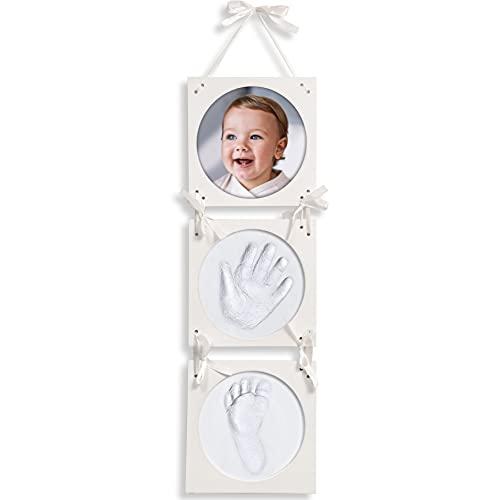 Click & Clay® - Baby Handabdruck und Fußabdruck Set - Ideal als Baby Geschenk Mädchen, Baby Geschenk Junge und Geschenk zur Geburt Jungen und Mädchen