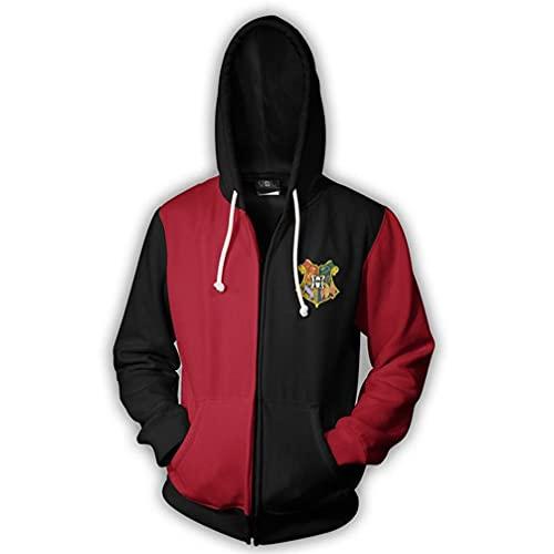 Unisex 3D Anime Harry Potter Gedruckt Hoodie Kapuzenpullover Sweatshirt Reißverschluss Jacke mit Taschen Gr. M, Cb 01
