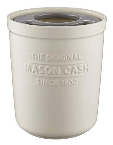 Mason Cash 2008.186 Innovative Kitchen Utensil Pot and Trivet, Ceramic, Off/White, 16 x 16 x 20 cm