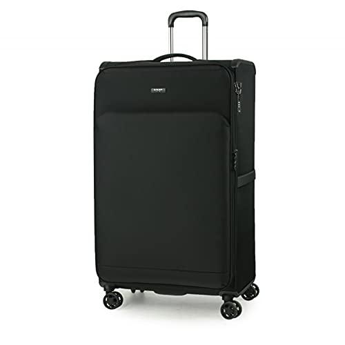 Valigia trolley con cerniera antifurto con 4 ruote extra large