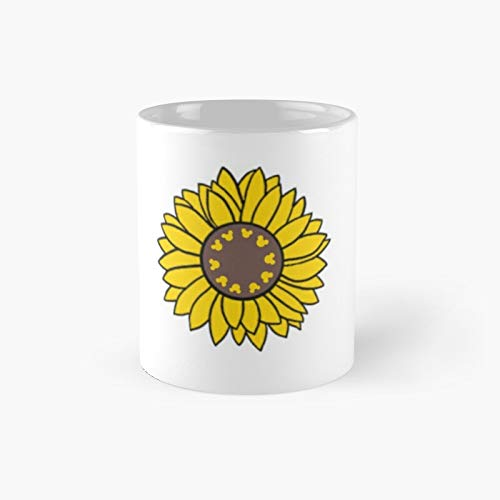 Magical Sunflower Classic Mug - A Novelty Ceramic Cups Inspirational Holiday Gifts For Morther's Day, Men & Women, Him Or Her, Mom, Dad, Sister, Brother, Coworkers, Bestie.