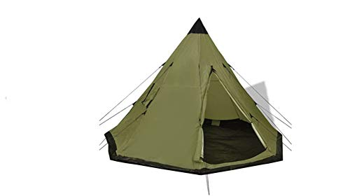 Außenzelt,4-Personen-Zelt Tragbares Outdoor-Campingzelt Pyramidenzelt superleicht mit 2 Fenstern für 4 Personen Wasserdicht Grün 365 x 365 x 250 cm
