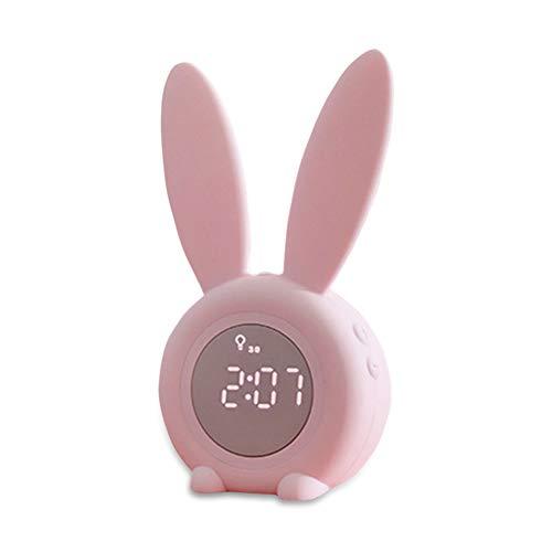 Weelth Alarm Clocks Rabbit Clock, Wake Up Light Table Lamp for...