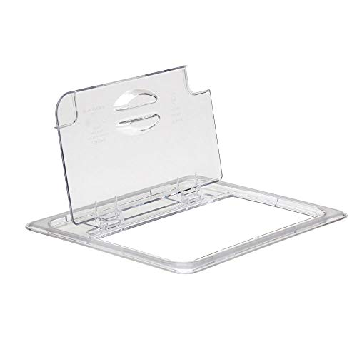 Cambro 20CWLN135 Clear Camwear Half Size Notched Food Pan FlipLid