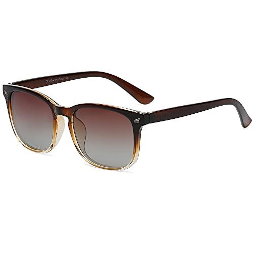 DUSHINE Gafas de sol polarizadas para mujer, estilo retro, 100% protección UV