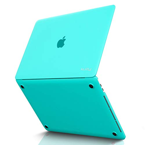 Kuzy - MacBook Pro 15 inch Case 2019 2018 2017 2016 Release A1990 A1707, Hard Plastic Shell Cover for Newest MacBook Pro 15 case with Touch Bar Soft Touch - Teal