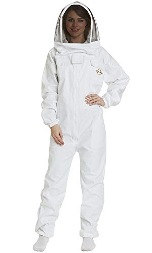 Natural Apiary – Apiarist Beekeeping Suit - (All-in-One) - Fencing Veil - Total Protection for Professional and Beginner Beekeepers – 3X Large - White