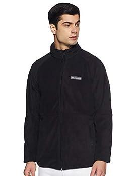 Columbia Men's Basin Trail Fleece Full Zip Jacket Soft Fleece Classic Fit Black Large/Tall