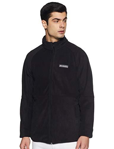 Columbia Men's Basin Trail Fleece Full Zip Jacket, Soft Fleece, Classic Fit, Black, Large/Tall