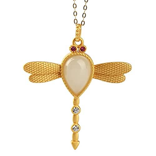 Collar colgante de libélula personalizado vintage, joyería femenina y elegante, joyería de graduación de boda, regalos navideños