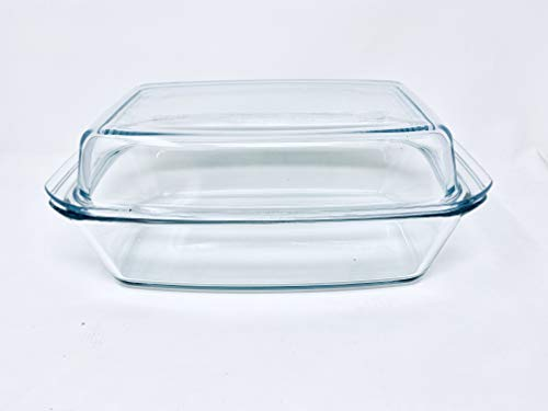 Simax Glassware SIMAX. Round heatproof dish with lid 5,4L, one size, clear