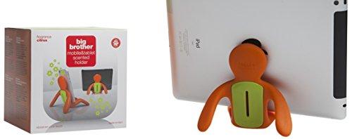Mr & Mrs Fragrance JBB002 Big Brother Porte iPhone-iPad avec diffuseur de Parfum Orange et Vert Senteur Citrus