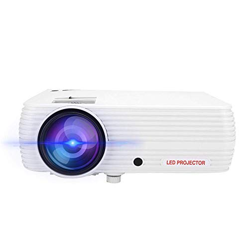 OHHG Caja Mini proyector, Mini proyector LED hogar, Proyector películas Video Exteriores HD Proyector Cine casa portátil LED 1080P...