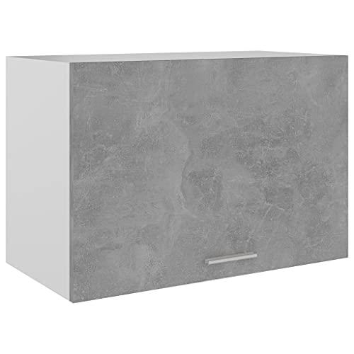 Armadio da cucina a parete, armadio da parete da cucina armadio pensile armadio portaoggetti pensile grigio cemento 60x31x40 cm truciolare