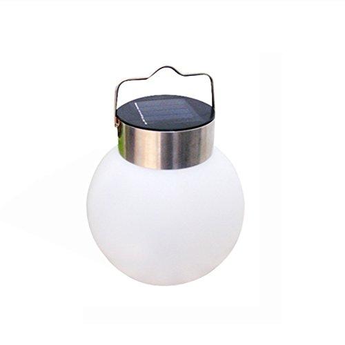 LEDMOMO LED Hängende Lampe Kugel Solarleuchte für Outdoor Garten Party Dekoration (weißes Licht)