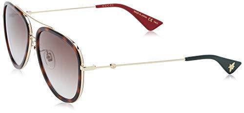 GUCCI dames GG0062S-012 zonnebril, bruin (Dorado/Havana/Brillo), 57