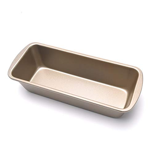 Medium Toast Pan Non-stick Golden Toast Box Rectangular Bread Baking Pan Cake Mold (Size: 9.3 inches lengthy x 3.7 inches broad x 2.1 inches excessive)