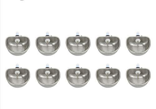 AMONIDA 【𝐏𝐚𝐬𝐜𝐮𝐚】 10PCS Cuenco de Agua de pezón de Conejo, Equipo de cría de Conejo antiarañazos Cuenco de Agua Potable Alimentador de Agua de Conejo, para Mascotas Granja de Conejos domésticos