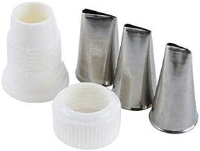 Ateco 4-Piece Stainless Steel Rose Piping Tip Set: standard coupler + 101 tube + 102 tube + 104 tube