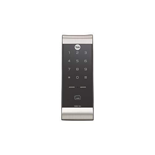 Yale YDR 3110 Smart Door Lock with Pin & Card Access, WiFi Optional, Color- Silver(Free Installation)