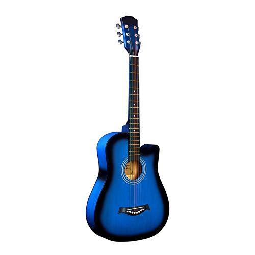 panjianlin Guitare 38 Pouces Guitare Folk Guitare Classique en Bois Naturel 6 Cordes en Nylon coloré for Les étudiants Adultes Enfants pour Les débutants et Les Adolescents (Color : E, Size : Medium)