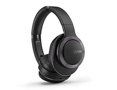 Cleer Flow Bluetooth Wireless Headphones, Hybrid Noise-Cancelling, Over-Ear, Auto-Pause - Black