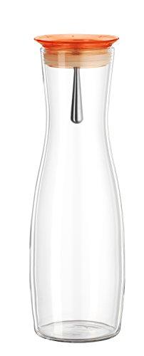 Bohemia Cristal 093 006 110 SIMAX Karaffe ca. 1250 ml aus hitzebeständigem Borosilikatglas mit praktischem Ausgießer aus Kunststoff orange Viva