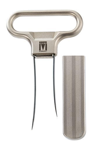 Monopol Westmark Germany Steel Two-Prong Cork Puller with Cover (Silver Satin)