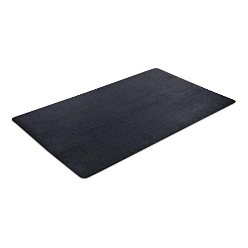 VersaTex Multi-Purpose Rubber Utility Mat for Indoor or Outdoor Use, For Entryway, Home Gym, Exercise Equipment, Garage, Under-Sink, Patio and Door Mat; 36' x 60', Black