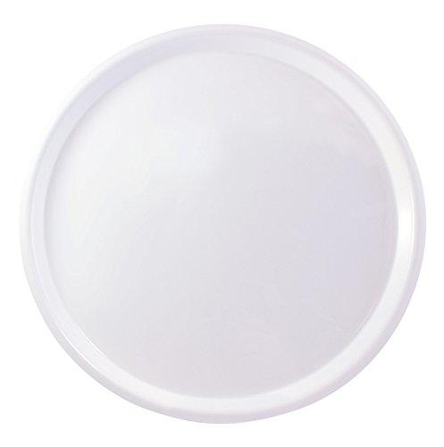 Plateau de service rond antidérapant 41 cm de diamètre Blanc