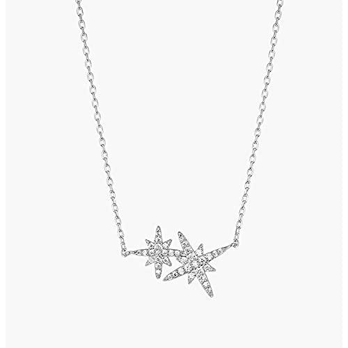 FRGVSXZCX Ocho Collar de Estrella de mang Cadena de cáscara de shellan Colgante Simple 18.5 Inch Swarovski Elements