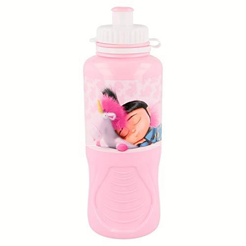 3200; Botella sport minions; agnes, fluffy; capacidad 400 ml; producto de plástico; reutilizable; No BPA