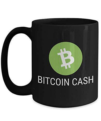 Officiell Bitcoin kryptovaluta stor mugg akryl kaffehållare svart 325 ml kryptovuvarbetare blockkedja investering handel köp sälj håll BCH
