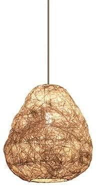 Forma irregular E27 Fuente de luz Chandelier Simple Hand-tejido de bambú Art Colgante Iluminación Iluminación Creativa Equipo de iluminación para el hogar Estilo japonés Estilo Pájaro Nido Rattan Arte