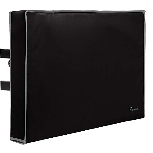 Outdoor TV Cover 48', 49', 50' - Universal Weatherproof Protector for Flat Screen TVs - Fits most TV Mounts and Stands - Black