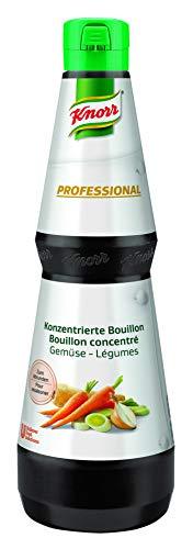 Knorr Professional konzentrierte Bouillon Gemüse (flüssig, vegan, 30 g Bouillon genügen für 1L Wasser) 1er Pack (1x1L)