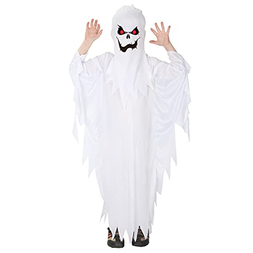 JIAQUAN-SHOP Capa de Halloween Disfraz de nios de Halloween Conjunto Fantasma de los nios Adultos Performance Traje Elf Dress Up Boys and Girls Ghost Ropa,A Decoracin de Halloween (Size : A-L)