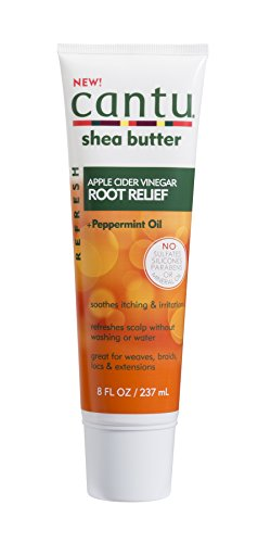 Cantu Refresh Root Relief with Apple Cider Vinegar and Peppermint Oil, 8 Ounce (07688-12/3PK)