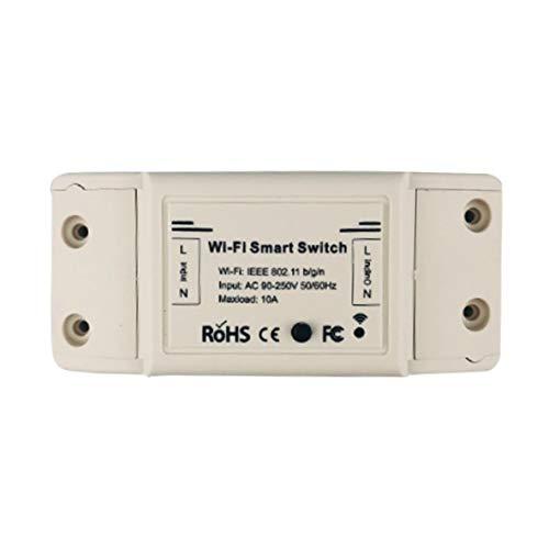 Interruptor de luz Inteligente WiFi, aplicación de Temporizador de Interruptor Universal, Control Remoto inalámbrico, Funciona con Alexa, Google Home, hogar Inteligente